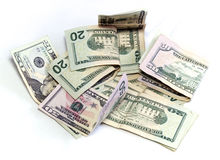 Dólares americanos en blanco Imagenes de archivo