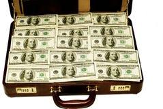 Dólares americanos en caso de que Imagenes de archivo