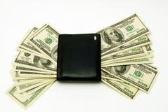 Dólares americanos en vallet Imagen de archivo libre de regalías