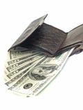 Dólares americanos Na bolsa Imagem de Stock
