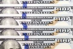Dólares americanos, primer Fotos de archivo libres de regalías