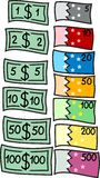 Dólares & euro. [Vetor] Foto de Stock