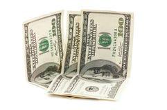 Dólares arrugados Fotos de archivo libres de regalías