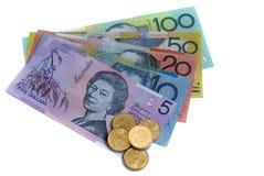 Dólares australianos Imágenes de archivo libres de regalías