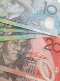 Dólares australianos Imagen de archivo libre de regalías
