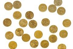 Dólares australianos dispersados fotografia de stock