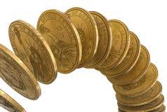 Dólares caer Imagen de archivo
