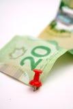 20 dólares canadenses Bill Imagem de Stock