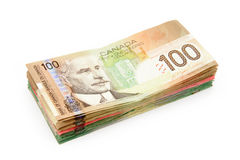 Dólares canadianos Imagem de Stock Royalty Free