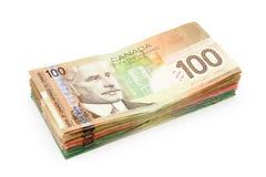 Dólares canadienses Imagen de archivo libre de regalías