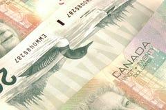 Dólares canadienses Imagenes de archivo