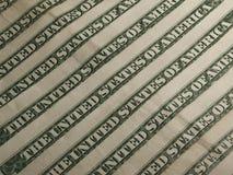 Dólares da bandeira das cédulas Imagens de Stock