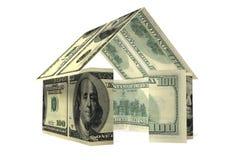 Dólares da casa Imagem de Stock Royalty Free