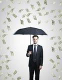 Dólares da chuva Imagens de Stock