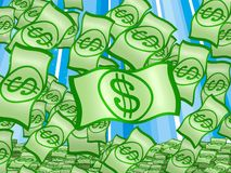 Dólares da chuva Foto de Stock Royalty Free