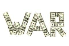 Dólares da guerra Foto de Stock