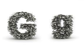 Dólares da letra G Ilustração Royalty Free