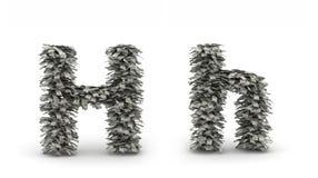 Dólares da letra H Ilustração Royalty Free