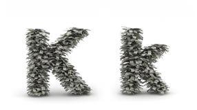 Dólares da letra K Ilustração Royalty Free