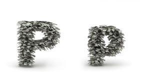 Dólares da letra P Ilustração do Vetor