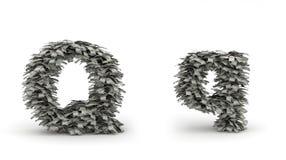 Dólares da letra Q Ilustração Stock