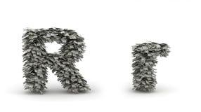 Dólares da letra R Ilustração do Vetor