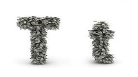 Dólares da letra T Ilustração do Vetor