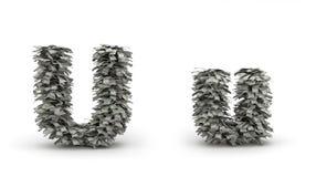 Dólares da letra U Ilustração do Vetor