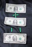 Dólares da matemática Fotografia de Stock Royalty Free