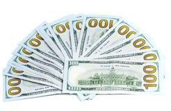 Dólares da moeda isolada Imagem de Stock Royalty Free