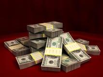 Dólares da pilha ilustração do vetor