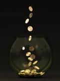 Dólares da queda Imagens de Stock Royalty Free