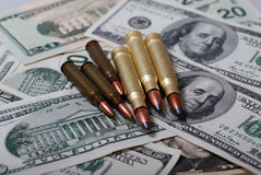 Dólares das balas n Imagens de Stock Royalty Free