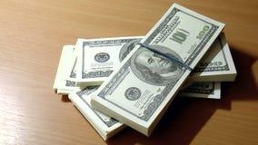 Dólares das cédulas video estoque