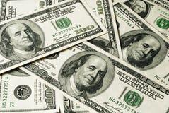 Dólares das centenas imagens de stock royalty free