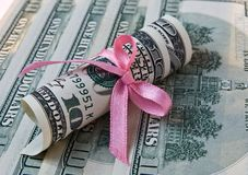 Dólares de beneficio fotografía de archivo libre de regalías