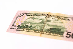 50 dólares de billete de banco Fotos de archivo