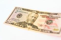 50 dólares de billete de banco Imagen de archivo libre de regalías