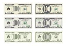 100 dólares de billete de banco Imagen de archivo libre de regalías