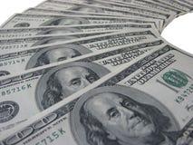 100 dólares de billetes de banco Imagen de archivo libre de regalías