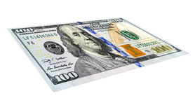 dólares de billetes de banco Cientos billetes de banco del dólar Fotografía de archivo libre de regalías