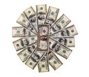 100 dólares de billetes de banco i Imágenes de archivo libres de regalías