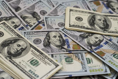 100 dólares de contas Imagem de Stock Royalty Free