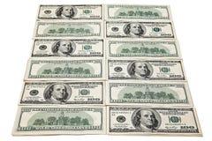 Dólares de contas americanos Fotografia de Stock
