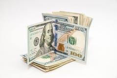 Dólares de contas isoladas Imagens de Stock Royalty Free