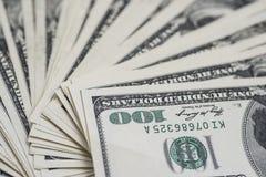 100 dólares de cuentas Foto de archivo libre de regalías