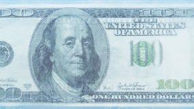100 dólares de derretimiento congelado almacen de metraje de vídeo