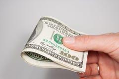 Dólares de E.U. do americano 100 Foto de Stock