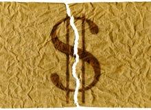 Dólares de E.U. rasgados ilustração royalty free