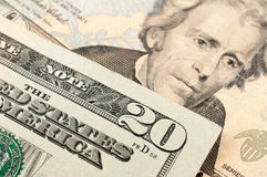 20 dólares de EE. UU. Fotografía de archivo libre de regalías